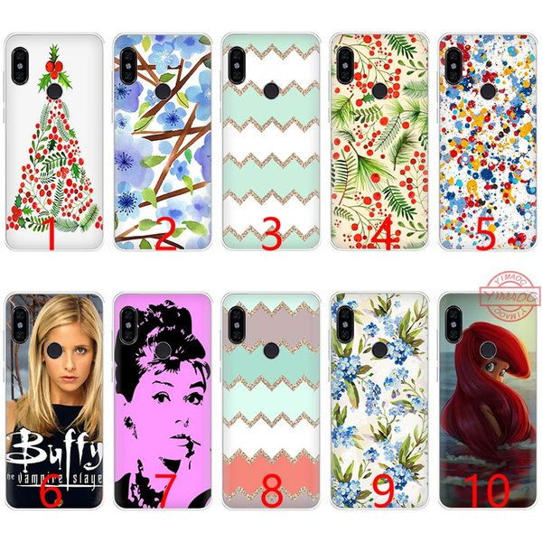 BERRIES MISTLETOE XMAS TREE Soft Silicone TPU Phone Case for Redmi Note 4 4X 5 6 Pro 6A S2 Cover