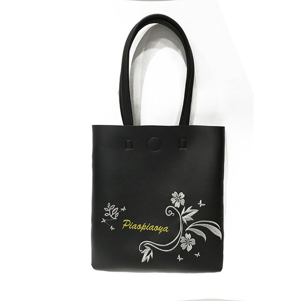 Hot Sale Ladies Girls Casual Bags Big Capacity Handbag Fashion Korean Women Flowers Printed Pu Leather Shoulder Bag Popular good quality