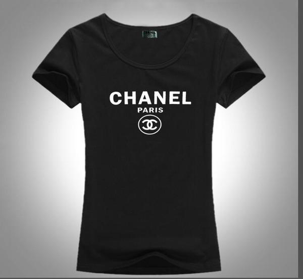 Yaz 2019 kadın T-shirt moda sıcak stil basit monogram baskılı desen rahat kısa kollu pamuklu kadın T-shirt