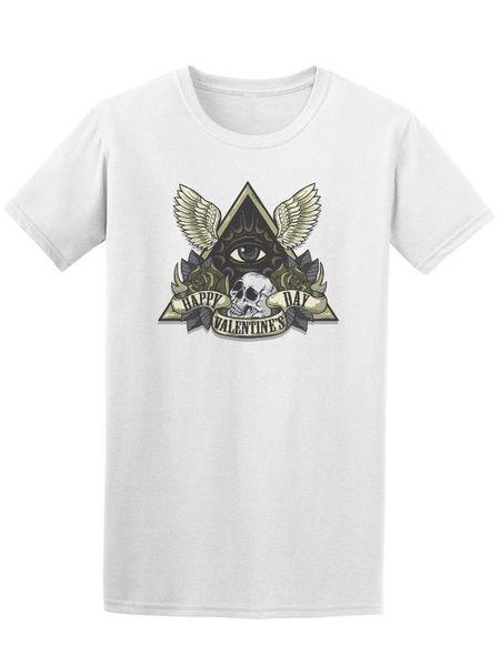 Счастливый День Святого Валентина треугольник мужская футболка -Image by Fashion