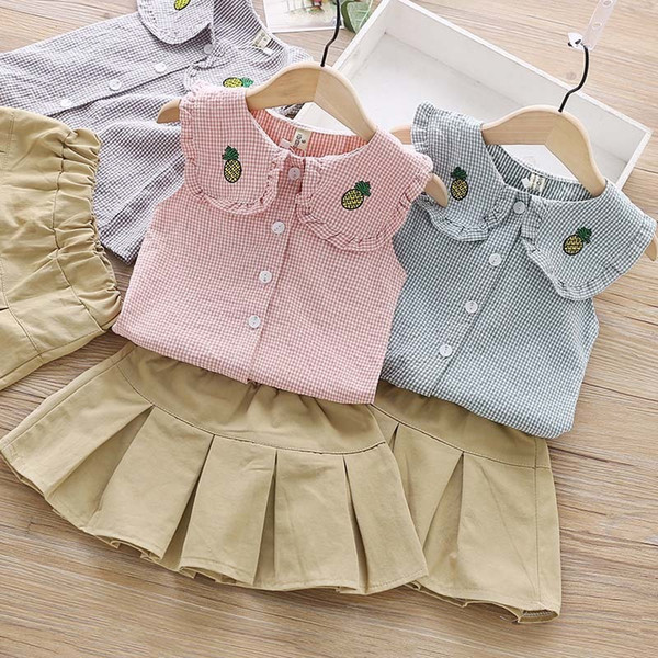 Girls Summer Colothes Sets Children Fashion Cotton Tops+Tutu Dress Tracksuits For Girls Kids Birthdays Christmas Clothing Suits Outfits