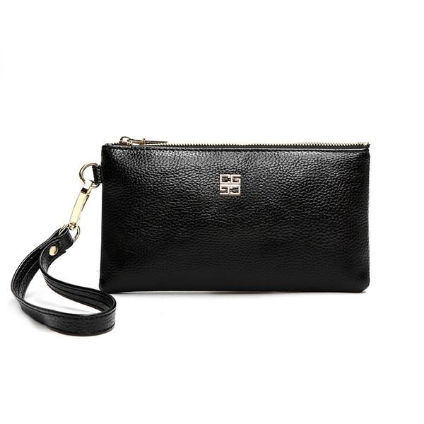 Lange brieftasche weibliche mode dame handtasche reißverschluss ändern handtasche handy weiches leder klein