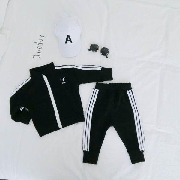 Crianças treino conjunto de meninos meninos treino de grife novos filhos roupas de grife conjuntos de roupas de manga longa terno de suor meninos roupas de grife 2 pçs / set A6756