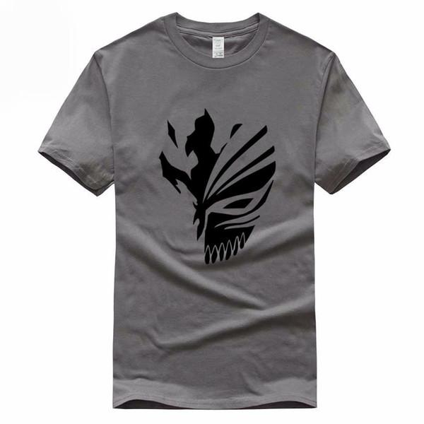 Bleach Tamaño Euro 100% Algodón Camiseta Verano Casual O-cuello Camiseta de manga corta para hombres y mujeres Gmt106