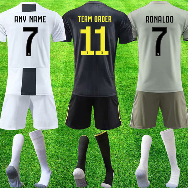Top juventus team order 2019 RONALDO soccer jerseys DYBALA jersey 18 19 fans football kit soccer shirts shorts socks adult sets uniform