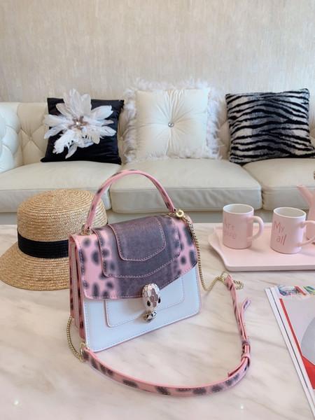 Дизайнерская сумка New Lady косой наплечная сумка цвета змеиной кожи, высочайшее качество украшена блестками Размер 20 * 17