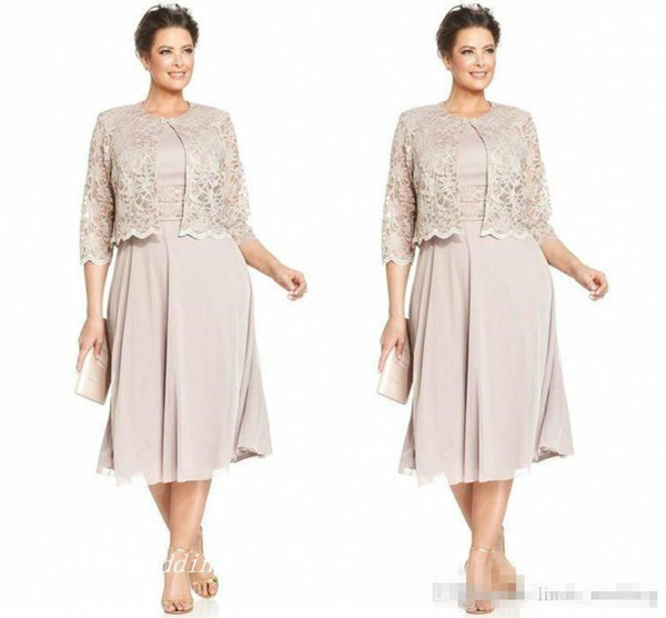 2019 Zarif Anne Gelin Damat Elbise Ceket Ile Yüksek Kalite şifon Dantel Örgün Düğün Kıyafeti Artı Boyutu vestido de madrinha