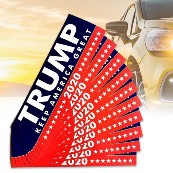 10 adet / takım Donald Trump Tampon Dekorasyon Için Çıkarılabilir DIY Araba Vücut Şekillendirici Aksesuarları PVC Başkan 2020 Araba Sticker Dış
