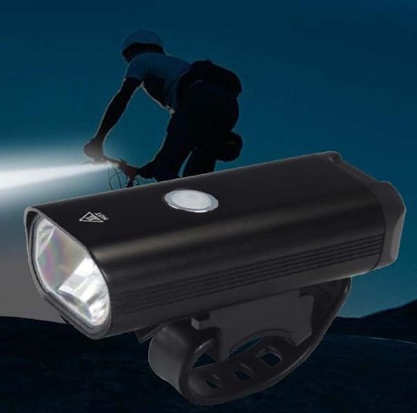USB Şarj Edilebilir Bisiklet Ön Işık Sürme Fener Lityum Pil Bisiklet LED Başkanı Işıklar Lamba Ücretsiz Kargo