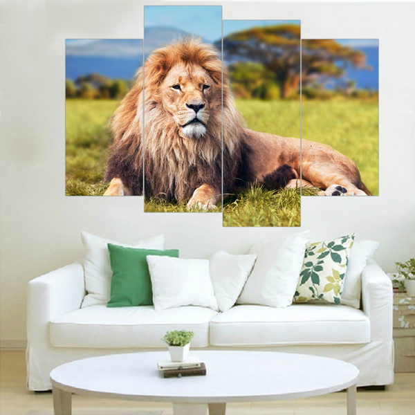 Modern Lion Canvas Painting Animal Wall Art Posters and Prints Spray Painting Home Decor Oil Modular Pictures for Home No Frame