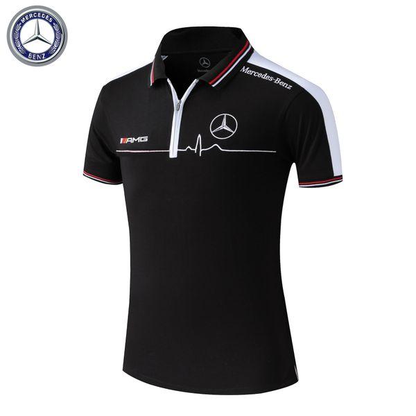 2019-New HOT fashion sports car brand men's Polo shirt classic cool designer summer men's short-sleeved lapel T-shirt sports casual T-shirt