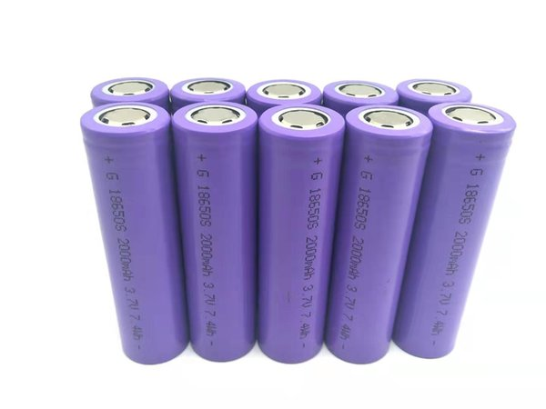 10pcs/lot 18650 3.7V 2000mAh Lithium-ion Rechargeable Battery For Flashlights, Power bank, etc. free shipping vtc5 battery