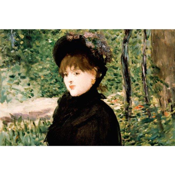 Toile art peintures à l'huile Edouard Manet La promenade belle portrait femme pour la décoration