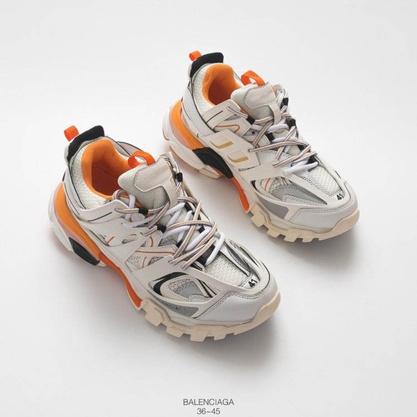 fc7fa53e21b73 New Fashion Triple S 3.0 Track Trainers Men Sports Running Shoes Designer  Sneaker Luxury Black Orange Women Walking Paris Dirty Dad Shoes