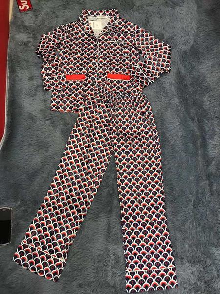 Bayan pantolon yeni trend moda baskı seti rahat ipeksi ipek kumaş vahşi bayan pantolon takım elbise