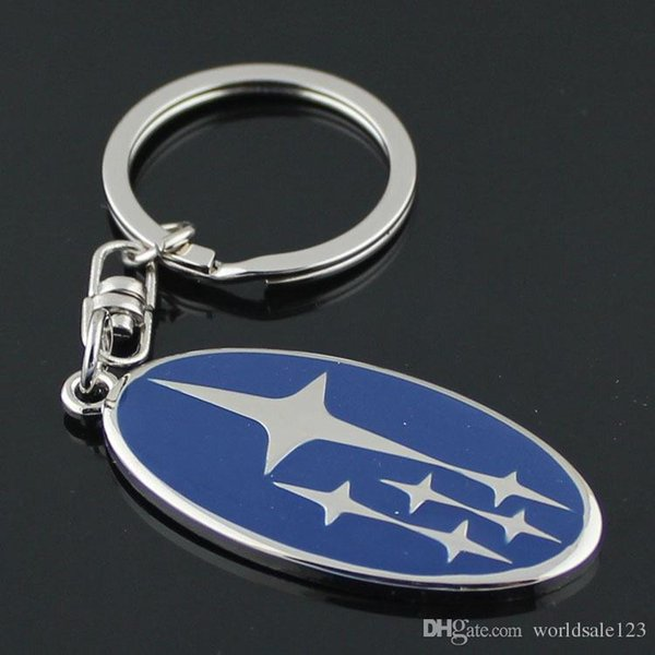 3D Metal Car Key Ring Fashion Brand Auto Keychain for Subaru Car Key Chain Auto Accessories Man Gifts Keyring key holder Dropshipping