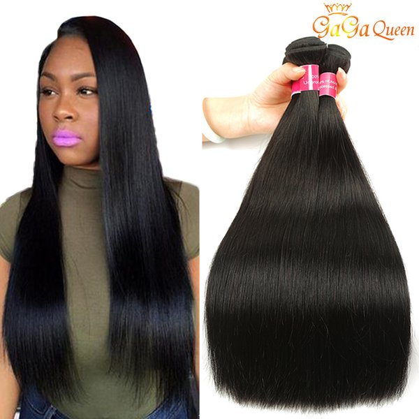 New Arrival Indian Straight Human Hair Extensions 3 Bundles Unprocessed Indian Straight Virgin Hair Nature Black