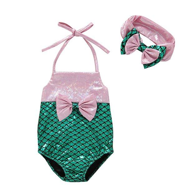 SAGACE Bow One Piece Baby Girl Suspender Bikini Romper Beachwear Toddler Kids Baby Girls Sleeveless Bathing Suit Girls