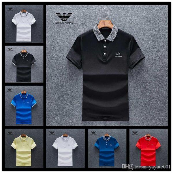 Casual shirt pour hommes de la marque classique en gros à manches courtes Medusa T-shirt Polo shirt broderie florale hommes shir