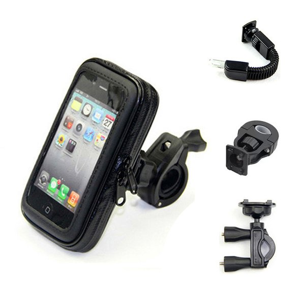 Bicycle Motorcycle Mobile Phone Holder Moto Support for iPhone/Samsung/xiaomi/huawei/LG Smartphones GPS with WaterProof Bag