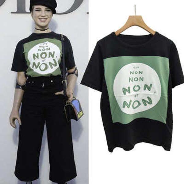 Bayan Tasarımcı Kazak T Shirt Lüks Kadın Marka Kazak Tees 2019 Yeni Varış Kadın Mektup OLMAYAN T Gömlek Bayanlar Yaz En Tees Giyim