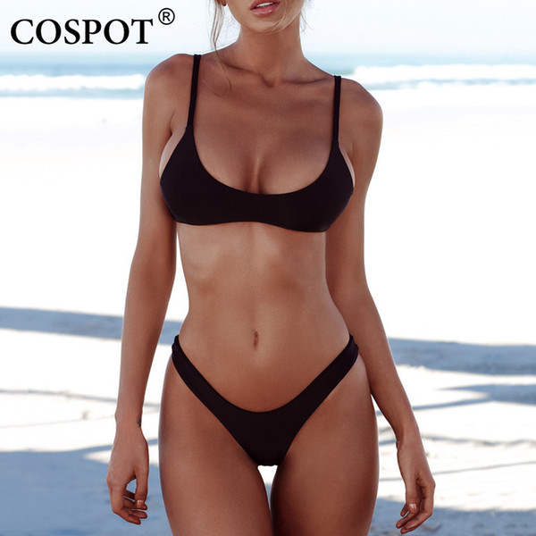 Hot Sale Bikini Sexy Women Swimwear Brazilian Bikini Push Up Swimsuit Solid Beachwear Bathing Suit Thong Biquini Set