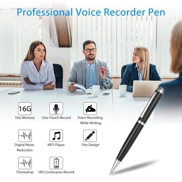 top popular SK-025 Professional Mini Voice Recorder pen 16GB Pen Style Digital voice Recorder Portable Mini Small USB Disk Sound Recording Pen 2020