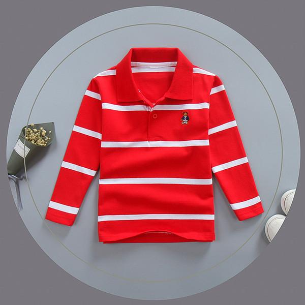 good quality spring boys t-shirts cartoon striped tops children boys cotton long sleeve clothing fashion sports tees brand tracksuit