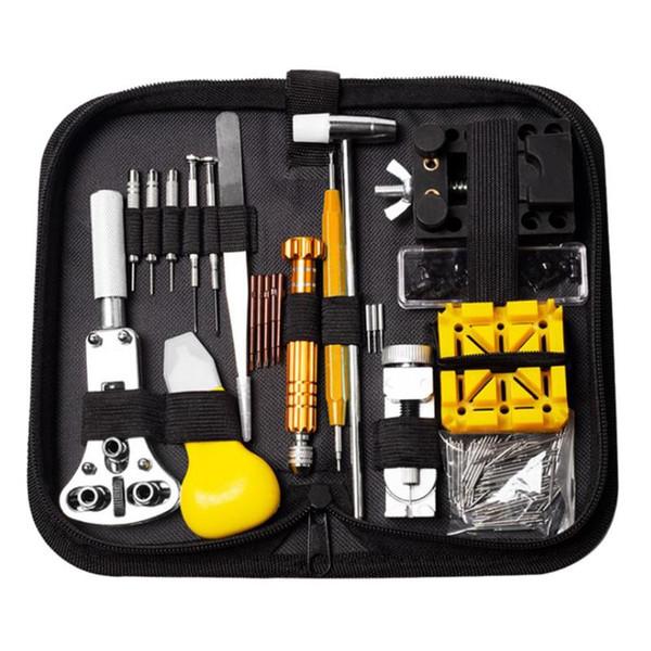 148 teile / satz Professionelle für Uhrengehäuse Öffner Link Pin Remover Schraubendreher Repair Tools Kit Tasche größe 200x100x45mm