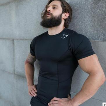 Compression Shirt Men Short Fitness Running Quick Dry Tee Basketball Soccer Man Tights Sport Top Bodybuilding Fitness T Shirts