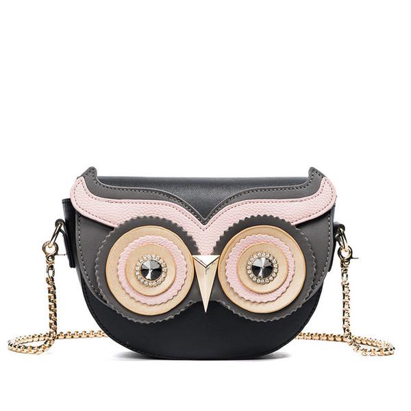 Hot 2019 Design Clássico Coruja Bonito Olhos Pequeno Crossbody Bag Mulheres Pu Bolsas De Couro Saco Da Senhora Saco Do Mensageiro Para Feminino An760