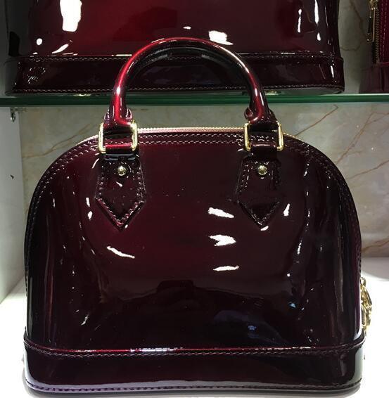 Luxus Klassische Shell Bag Damier Lackleder Grid Taschen Designer Handtaschen Umhängetaschen Frauen Leinwand Crossbody Geldbörse Einkaufstasche