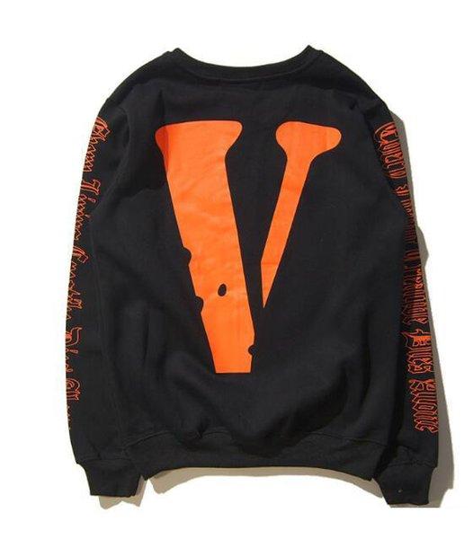best selling Brand NEW HIP HOP VLONES Men's Women's Hoodie Sweatshirt Long Sleeve A $ AP Bari Virgil Large V Hoodie