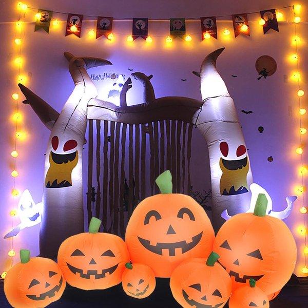 7PCS Halloween Zucche gonfiabili decorazione di Halloween Per la casa Prato Giardino del partito decorazioni esterne
