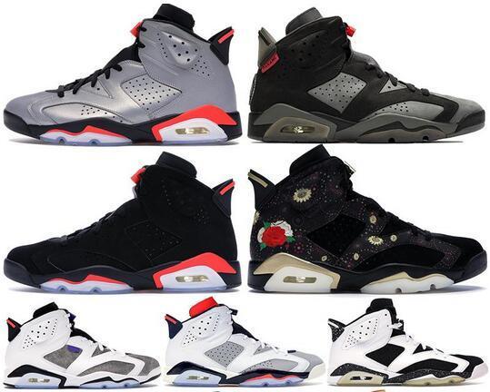 6 6s de chaussures de basket-ball de chat noir Nouveau Bred Vieux Infrarouge Noir Travis Bugs réfléchissant Lapin de baskets Chaussures