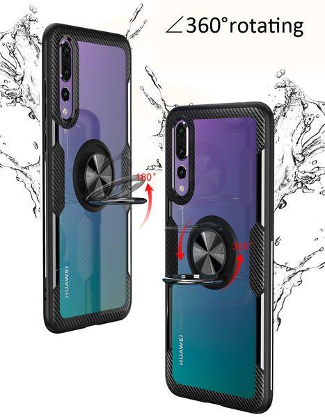 Transparent Plating Case Soft TPU Cellphone Antichoc Armure Dur PC Silicon Case Pour Iphone Xs Xs max Ultra Doux TPU Kickstand Doigt Grip