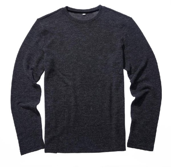 Black 2019 autumn new fashion men's knitwear circular neck pullover loose casual plain color sweater men