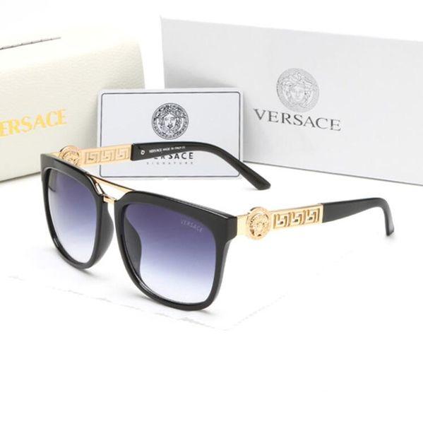 2097 Gafas de sol para hombre Diseño de marca Moda Gafas de sol Wrap Sunglass Pilot Frame Recubrimiento Espejo Lente Fibra de carbono Piernas Estilo Verano