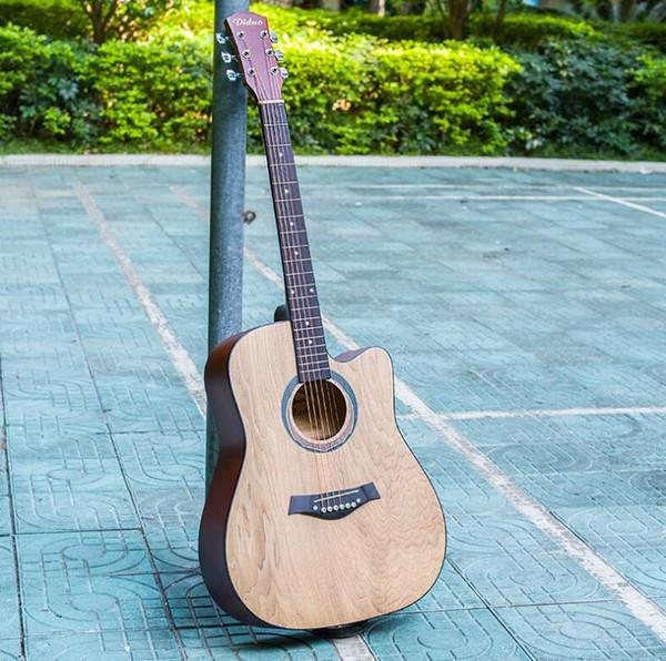 Envío gratis estándar de 41 pulgadas principiante de fresno practicando piano Basswood guitarra novato ballet guitarra faltante
