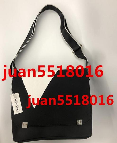 2019 Diseñador de la Marca de Los Hombres de Cuero Genuino Bolso Negro Maletín Laptop Bolsa de Hombro Messenger Bag 30 CM