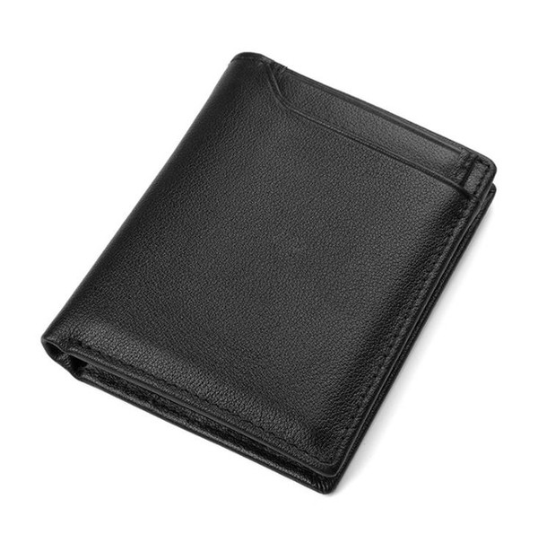 Business leather men's wallet fashion RFID first-tier cowhide short Wallet