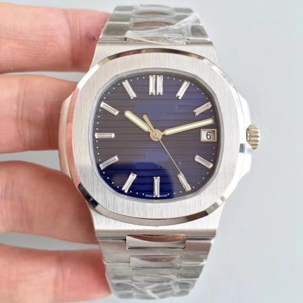 Relógio de Mens nautilus esporte série de aço inoxidável cinta original 40 MM automático Mecânico Mens Relógios