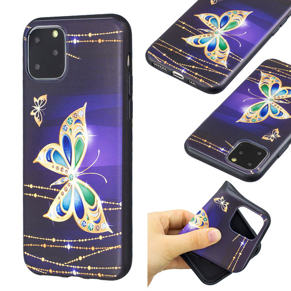 Soft TPU Cases For Galaxy Note 10 9 Pro A20E For Iphone 11 XS MAX XR X Cover Flower Relief Animal Butterfly Silicon Owl Panda Cartoon Emboss