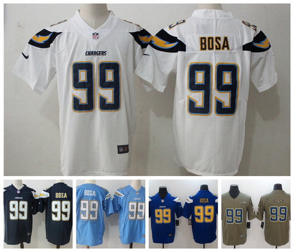 sports shoes d5125 4732a 2019 New Mens 99 Joey Bosa Jersey Los Angeles Chargers Football Jersey 100%  Stitched Embroidery Chargers Joey Bosa Color Rush Football Shirt Shirt ...