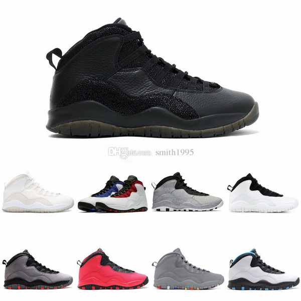 10 nuevos zapatos de baloncesto 10s Cemento Westbrook Bobcats I M Back Chicago Cool Grey Athletics Sports Sneakers