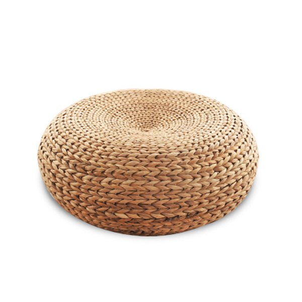 New 100% Natural rattan seat yoga mat chair rattan stool Ottomans Zen cushion living room furniture