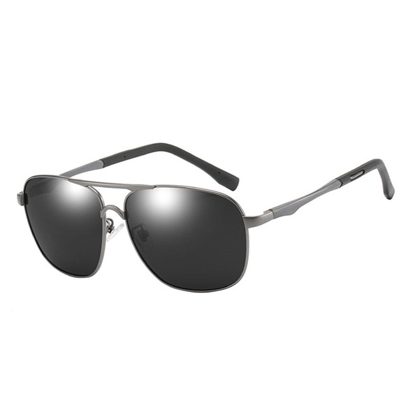 High-end men's box sunglasses men's fashion sunglasses high-end driver night vision sunglasses day and night dual-use driving glasses