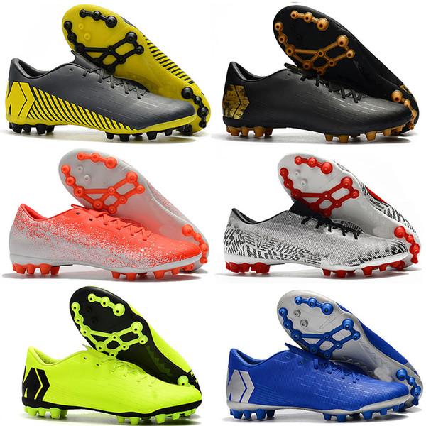 Mens Düşük Ayak Bileği Futbol Boots Buharları 12 Akademisi CR7 AG-R Futbol Ayakkabı Mercurial Superfly AG Neymar ACC Açık Futbol Cleats