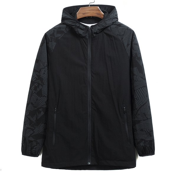 new Plus size 8XL 9XL spring autumn men jacket coat brand-clothing solid grey hooded jacket male top quality casual outerwear