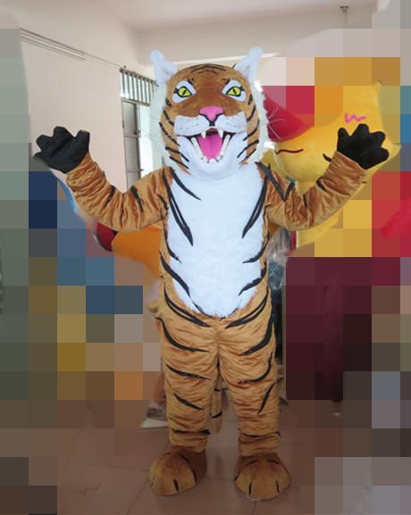 Profesional personalizado traje de la mascota del tigre de Bengala de dibujos animados tigre Animal Personaje Ropa Navidad Fiesta de Halloween Vestido de lujo